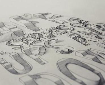 Alles andere als flach: Lex Wilsons 3D Typographie
