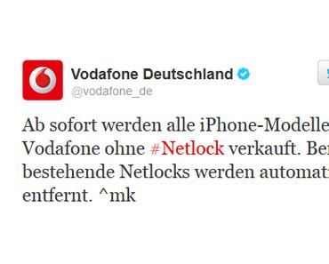 Keine Netzsperren mehr bei aktuellen iPhones von Vodafone