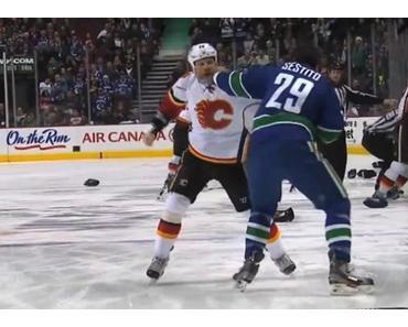 NHL Schlägerei 2 Sekunden nach Anpfiff führt zu 152 Strafminuten
