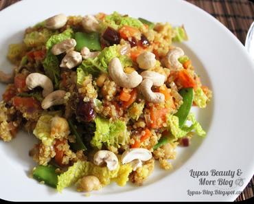 Orientalische Quinoa Wirsing Gemüse Pfanne