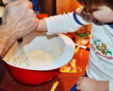 Männerwirtschaft: Mann und Kind backen das perfekte Brot