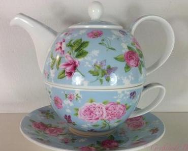 Teekanne mit Blumendekor - Fleurs carol lake von Dunoon