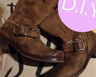 DIY: These boots are made for decorating: Stiefel-Ketten