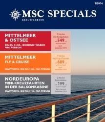 Neue MSC SPECIALS fürs Mittelmeer und Nordeuropa
