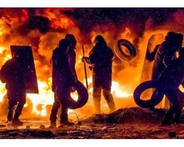 Blick nach Kiew