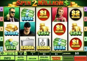 Der Geldspielautomat Spin 2 Million $
