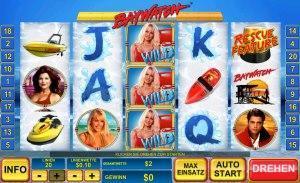 Der Geldspielautomat Baywatch im Online Casino