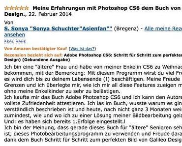 Rezensionen: Adobe Photoshop CS6: Schritt für Schritt zum perfekten Bild