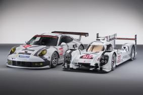 Der neue Porsche 919 Hybrid und Porsche 911 RSR in Bildern