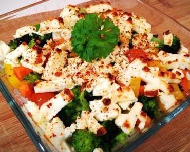 Gemüse-Reis Auflauf mit Feta
