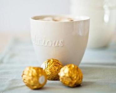 Pimp my Cappuccino  ♥ Eine vergoldete Kaffeepause mit Rocher
