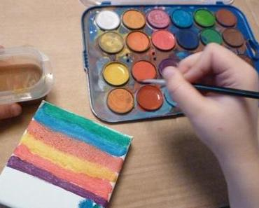 Malen mit Wasserfarben: Wir holen uns den Frühling ins Haus