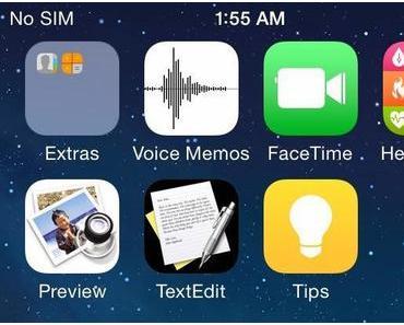 Vermeintlicher iOS 8 Screenshot zeigt Healthbook, Vorschau und TextEdit Icon