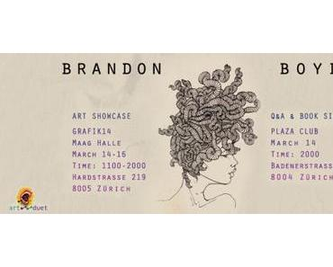 Brandon Boyd an der Grafik14