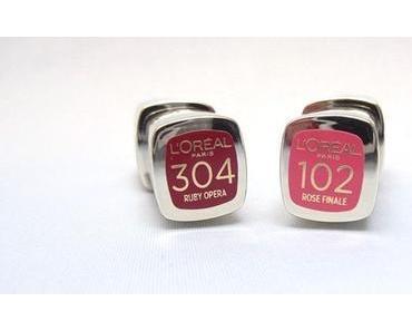 Neu von L'Oréal: L'Extraordinaire 304 Ruby Opera und 102 Rose Finale