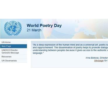 Welttag der Poesie – UNSECO World Poetry Day