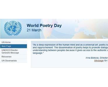 Welttag der Poesie – UNSECO World Poetry Day