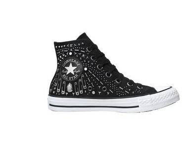 Converse Schuhe All Star Chucks 542442 Silber Schwarz Totenkopf