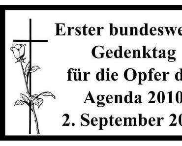 Erster bundesweiter Gedenktag für die Opfer der Agenda 2010