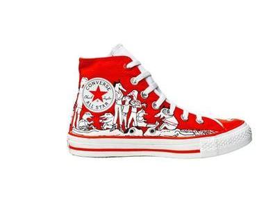#Converse Schuhe All Star Chucks 107362 Rot Weiss Comic Print