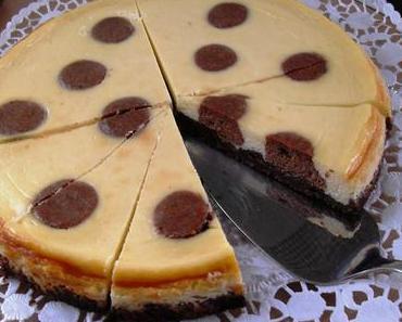 Polka Dot Cheesecake (Käsekuchen mit Punkten)