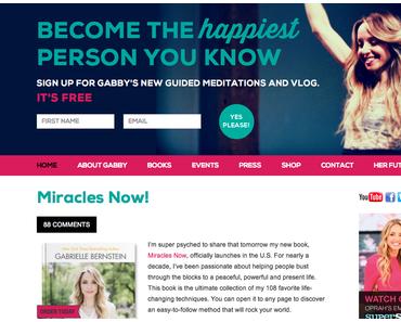Miracles Now – das neueste Buch von Gabrielle Bernstein!