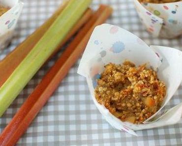 Rhabarber-Buttermilch-Muffins / Rhubarb-buttermilk-muffins