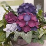 Papierblumen – Hortensien mit der Stanze kleine Blüte