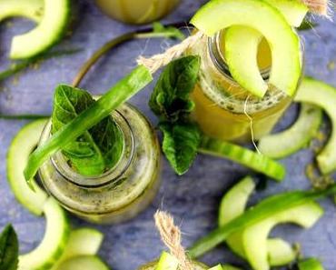 Grünes Wunder: Matcha-Gurken Limonade