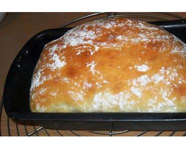 Helles Brot ohne Kneten