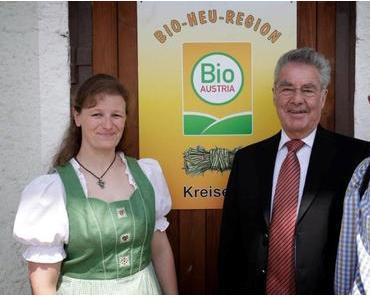 Der Österreichische Bundespräsident Dr. Heinz Fischer besucht die Bio Heuregion