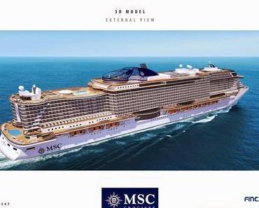 MSC investiert 2,1 Milliarden Euro in futuristische Kreuzfahrtschiffe  - 5300 Passagiere und 1500 Mitarbeiter...