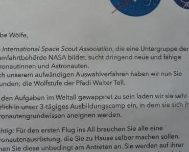 Als Astronaut ins Wölfli-Pfingstlager