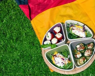Fingerfood-Ideen zur Fußball-WM 2014 - Mango mit Büffelmozzarella, Zucchiniröllchen und noch viel mehr