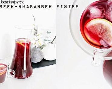 beschwipster Erdbeer-Rhabarber Eistee