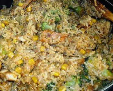 Hähnchen-Reis-Pfanne nach Cajun Art