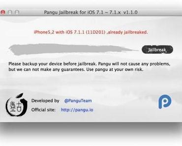 (Download) iOS 7.1.1 Jailbreak Update: Pangu v1.1 für Mac OS X