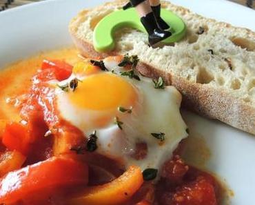 Shakshuka – Tomaten-Paprikagemüse mit Ei