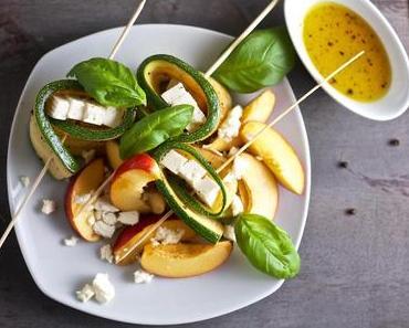 Zucchini-Nektarinen-Salat
