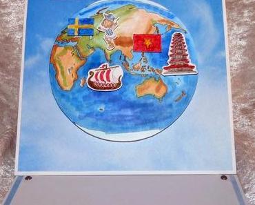 Karte für einen Weltenbummler