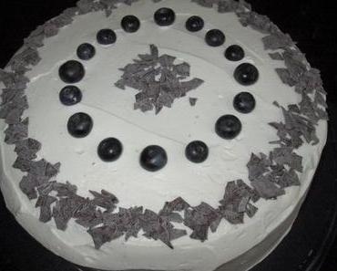 KW32/2014 - Die Leckereien der Woche - Blueberry-Vanilla-Torte