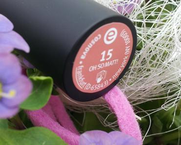 Essence longlasting lipstick 15 – oh so matt!