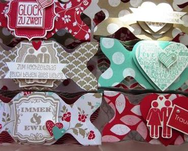 Knallbonbons für eine Hochzeit mit dem Envelope Punch Board