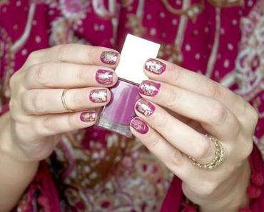 {Tutorial} Nailart mit Gold & Radient Orchid Fuchsia