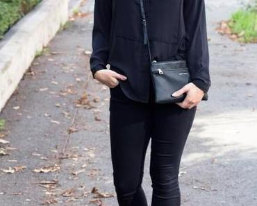 All Over Black Autumn Outfit
