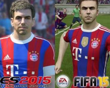 Spieler-Grafikvergleich: PES 2015 vs FIFA 15