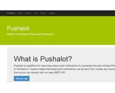 Pushalot hat jetzt einen eigenen IFTTT Channel