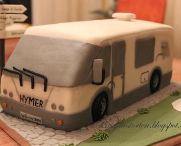 Eine Wohnmobil-Torte zum 60. Geburtstag