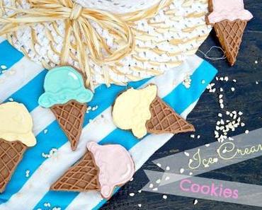Eistüten Butterkekse // Ice Cream Cone Sugar Cookies