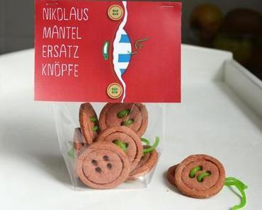 DIY: Kekse vegan ›NIKOLAUS MANTEL ERSATZKNÖPFE‹
